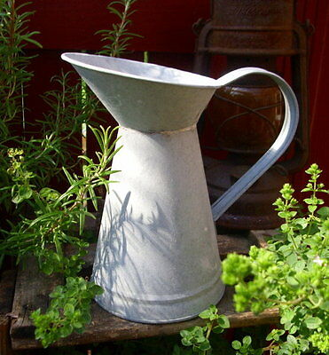 Zinc Watering Can Metal Plated Vintage Country House Style Garden Decoration New