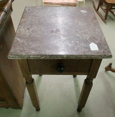 Fantastic One Drawer Marble Top Stand