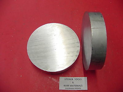 """2 Pieces 3-3/4"""" ALUMINUM 6061 ROUND ROD 1"""" long T6511 3.75 Solid Lathe Bar Stock"""