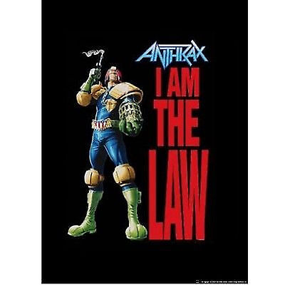 ANTHRAX Judge Dredd Law Cloth Fabric Poster Flag Textile Tapestry Banner **NEW