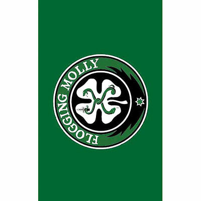 FLOGGING MOLLY 4 Leaf Clover Cloth Fabric Poster Flag Textile Tapestry Banner