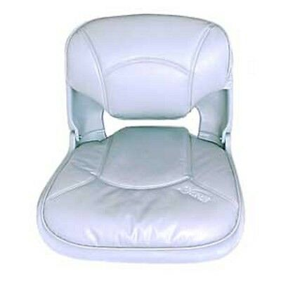 Boat Marine Seat Cushioned White Disconnect Feature Fisherman Seat Low Profile