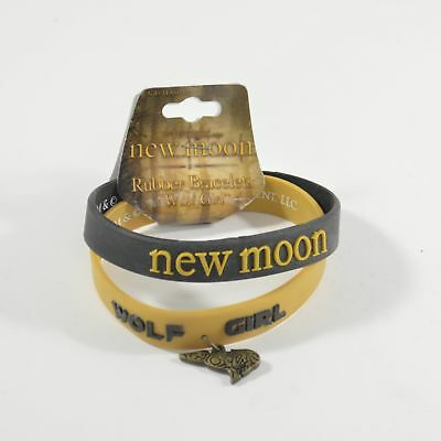 "The Twilight New Moon ""Wolf Girl"" Rubber Bracelets * 2 in pack"
