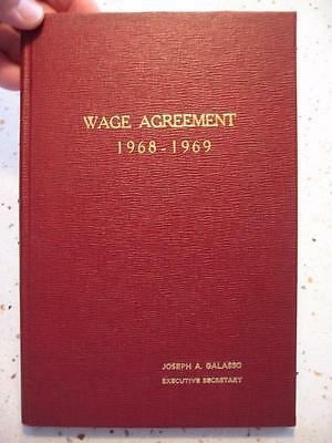 1968-1969 Pro-Forma Agreement Book City Of Waterbury, Ct & Wbty City Employees