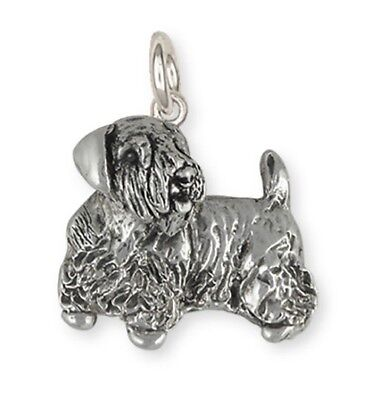 Solid Sterling Silver Sealyham Terrier Dog Charm Jewelry  SEM2-C