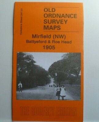 Old Ordnance Survey Map Mirfield (NW) Batteford & Roe Head  Yorks 1905 S247.01