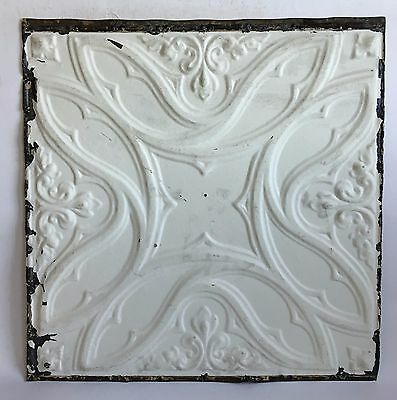 """24""""x24"""" 1890's' Antique Ceiling Tin White See Our Salvage Videos  C67a"""