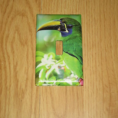 Blue Throated Toucanet Tropical Wild Bird Light Switch Cover Plate