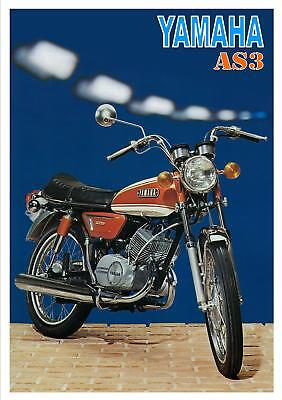 YAMAHA Poster AS3 125 1971 and 1972 Superb Suitable to Frame