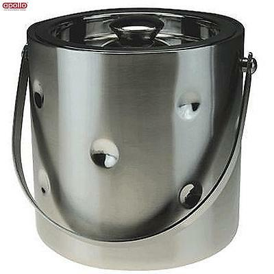 Apollo Stainless Steel Double Wall Ice Bucket Bar Party Drinks Home New