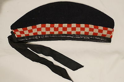 WW1 British Canadian Scottish Glengarry Red White Diced w/Red Toorie