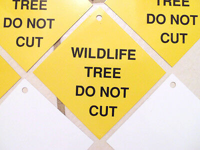 10 Vintage Forest Park Garden - Wildlife Tree Do Not Cut - Property Sign