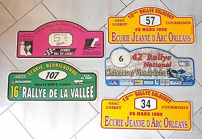 5 Vintage french Rallye CAR Plaques Signs
