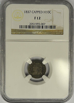 1837 Capped Bust Half Dime, NGC F12