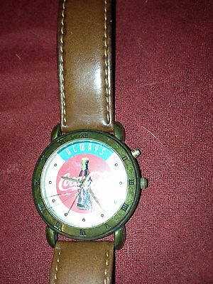 Always Coca Cola Watch Coke Large Face Leather Band