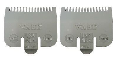 "2 Wahl Professional Color Coded Clipper Guide Comb Attachment #1/2, 1/16"", 1.5mm"