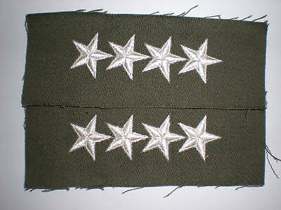 Us Army 1960's General Rank Collar Insignia -1 Pair
