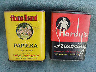 Vintage Home Brand & Hardy's Spice Tin Can St. Louis, Fargo N.d., St Paul, Mn