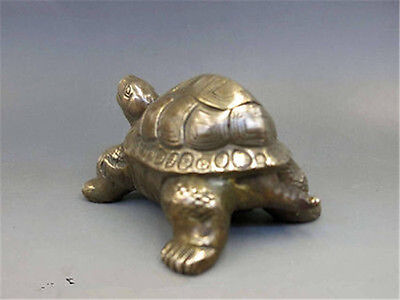 Chinese Copper Brass Carved Animal tortoise sea Turtle Statue #6