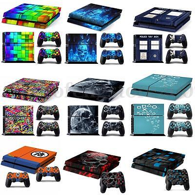 Decal Vinyl Skin Protection Sticker for Playstation4 PS4 console & Controller #Q