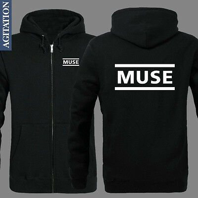 Hot Style!Rock Band MUSE Black Cosplay Zipper Hoodies Coat #56