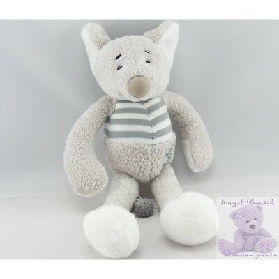 4450 - Doudou souris grise BABY FOLLY NICOTOY - Security blanket