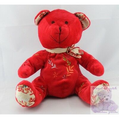 4589 - Doudou ours rouge NOCIBE INES 2006 - Security blanket