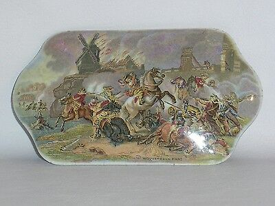 Prattware Pot And Lid Wouvermann Pinx. Battle Scene.