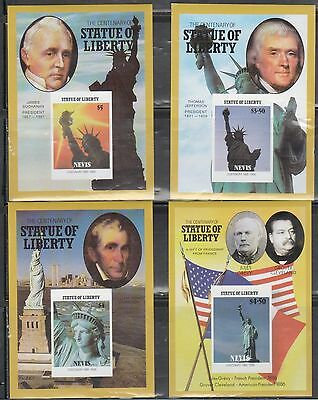Nevis 517-20 Statue of Liberty and Presidents Mint NH