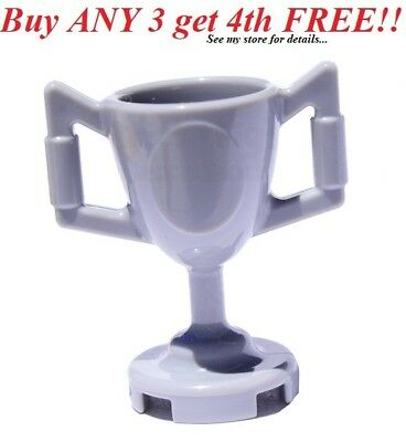*NEW* 10 Pieces Lego Minifig Utensil  TROPHY CUP with Sticker METALLIC SILVER