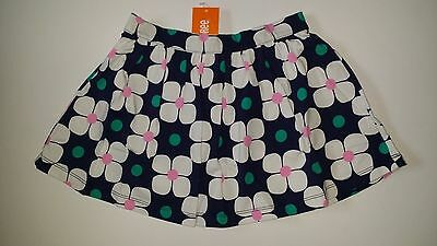 Gymboree Girls HOP N ROLL Navy Blue White Pink Green Geo Floral Skirt 6