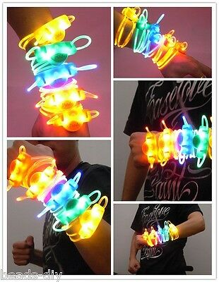BD New LED Light Glows Wristbands Bracelet Bangle Party Rave Concert Safety