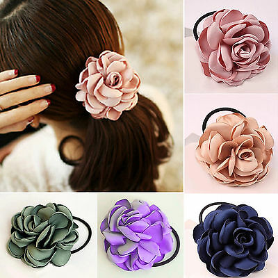 NT Women Hair Band Rope Elastic Flower Ponytail Holder Scrunchie Accessories