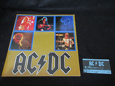 AC/DC 1982 Japan Tour Book with Ticket Stub Concert Program Angus Young