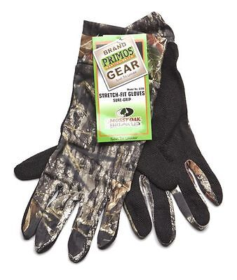 *Primos Stretch-Fit Gloves Sure-Grip & Extended Cuff- Mossy Oak New Break-Up 639