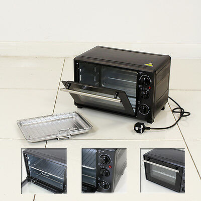 18L Portable Electric Stainless Steel Countertop Oven With Grill Caravan Boat