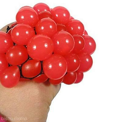 Novelty Popular Stress Relief Squeezing Toy Soft Rubber Vent Grape Venting Ball