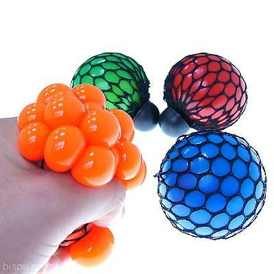 Hot Stress Relief Squeezing Toy Squeeze&Blow Soft Rubber Vent Grape Venting Ball