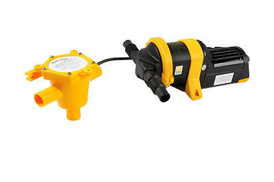 NEW Whale Fully Automatic Grey Waste Water Multi Point Drain Pump Grey IC