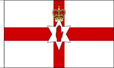 Northern Ireland Sleeved Flag suitable for Boats 45cm x 30cm