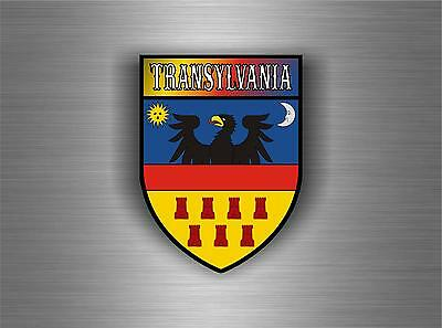 Sticker decal coat of arms car shield transylvania romania helmet flag banner