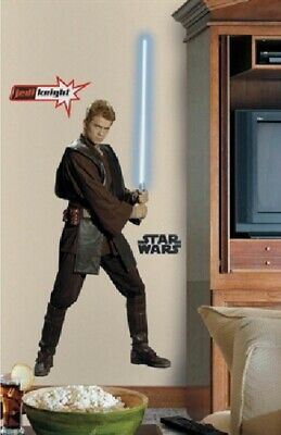 Star Wars Anakin Skywalker Giant Peel and Stick Wall Decal Sticker, NEW SEALED