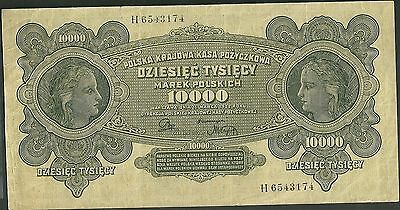 1922 poland 10000 marek currency note 32 polish polska paper money banknote