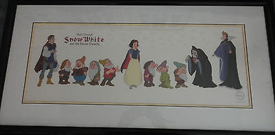 Disney SNOW WHITE & SEVEN DWARFS CAST OF CHARACTERS SERICEL rare