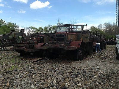 "NO Mack 7 1/2-ton 6x6 Prime Mover G-532, with winch.  Incomplete. Sold ""as is"""