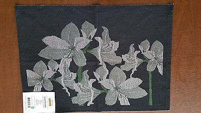 "100% Cotton Lindas Amaryllis Small Table Square 14"" x 19"" by Ekelund"