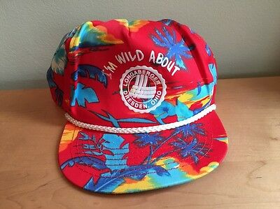 "San Sun ""I'm Wild About Longaberger"" Tropical Print Hat / Cap"