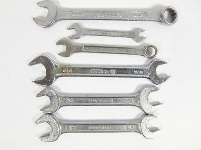Lot Of 6  Gedore Vintage Open End Combination Assorted Wrenches