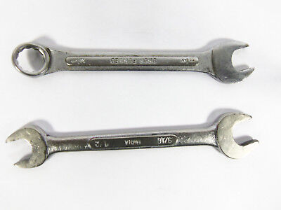 Lot Of 2 Vintage Open End Combination Assorted Wrenches No Name