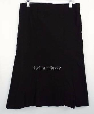 Women's Mimi Maternity Long Black Pieced Skirt w/ Lots of Stretch S EXCELLENT